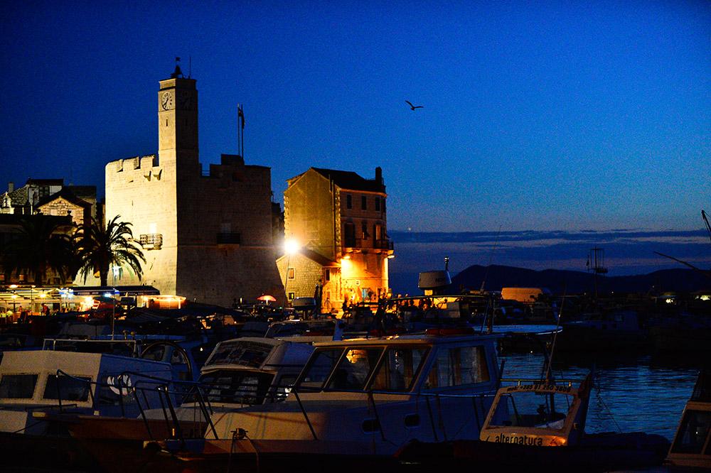 Castle Grimaldi called Komuna in the town Komiža an the island of Vis