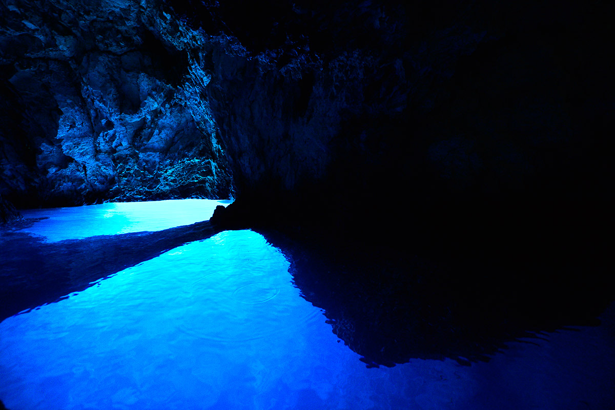 The Blue cave on the island of Biševo