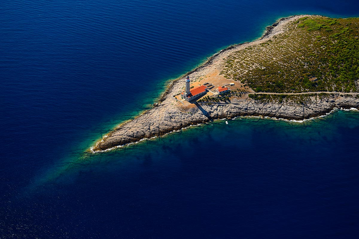 Stončica bay and lighthouse on the island of Vis