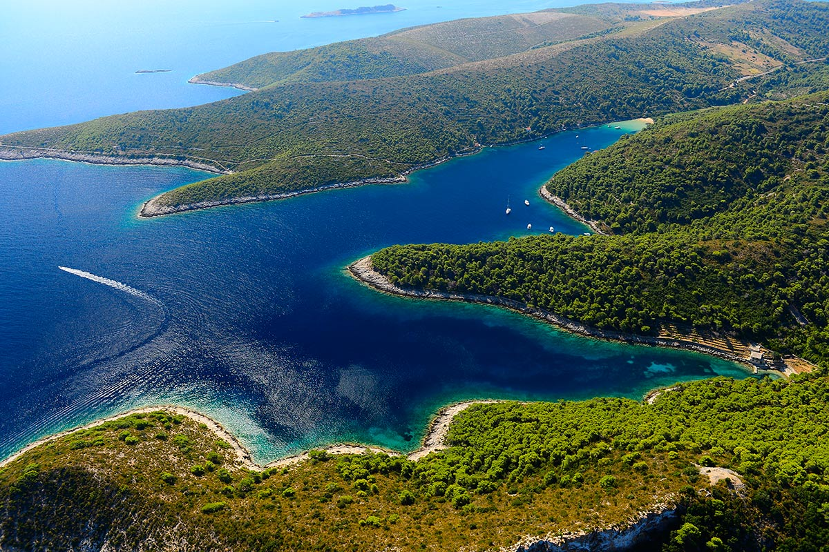 Coves and bays of the island of Vis